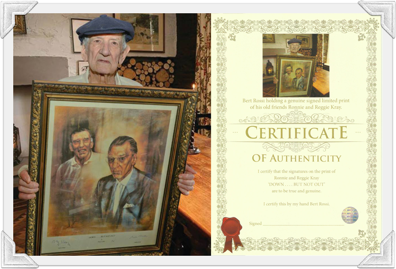 Lunch with Bert Rossi & Signed Krays Print