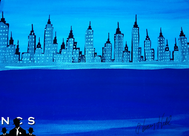 Henry Hill NYC Skyline Painting