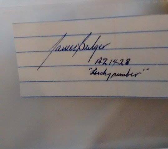 james whitey bulger autograph