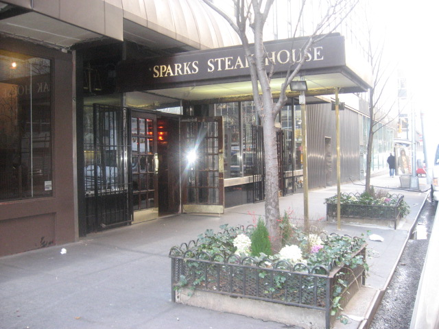 Sparks Steakhouse: 210 E 46th Street, Manhattan.