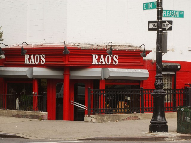 Rao's Restaurant: 455 E. 114 Street, New York.