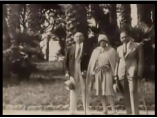 Here is Frank, Bobbie and an unidentified friend in Italy.