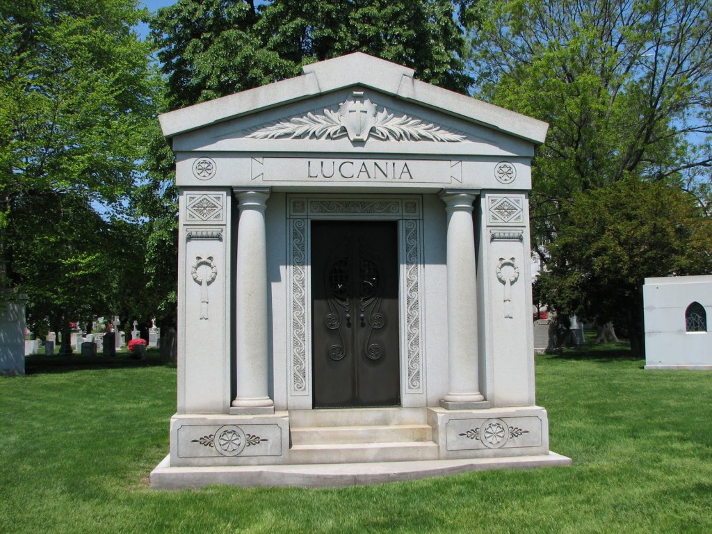 Mausoleum of Lucky Luciano at St. John's Cemetery, Middle Village, New York