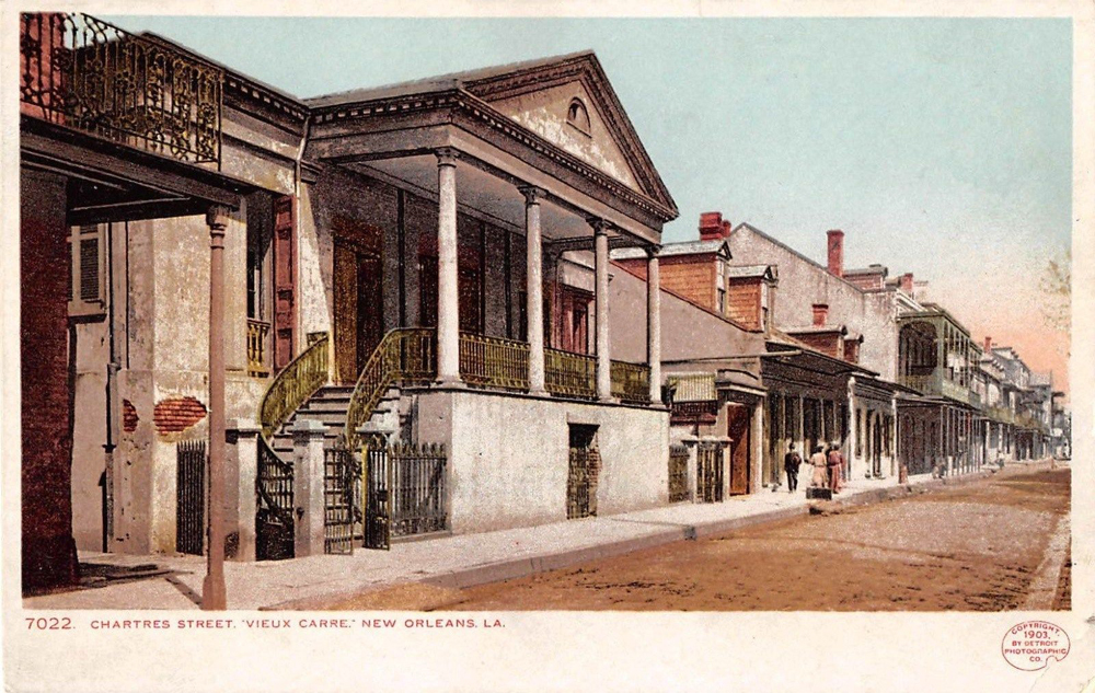 Postcards of the Keyes Beauregard house from around the time of the shooting