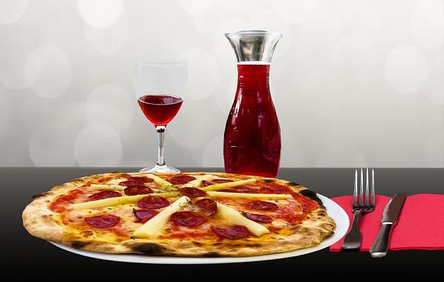 Sicilian Pizza and Wine
