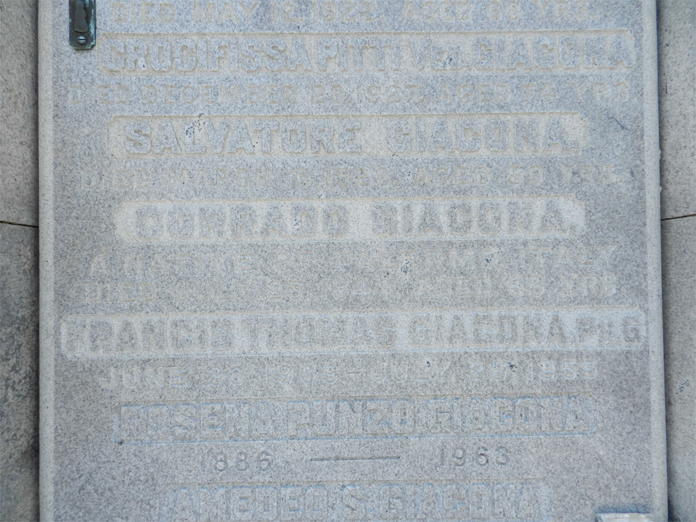 Corrado Giacona Burial