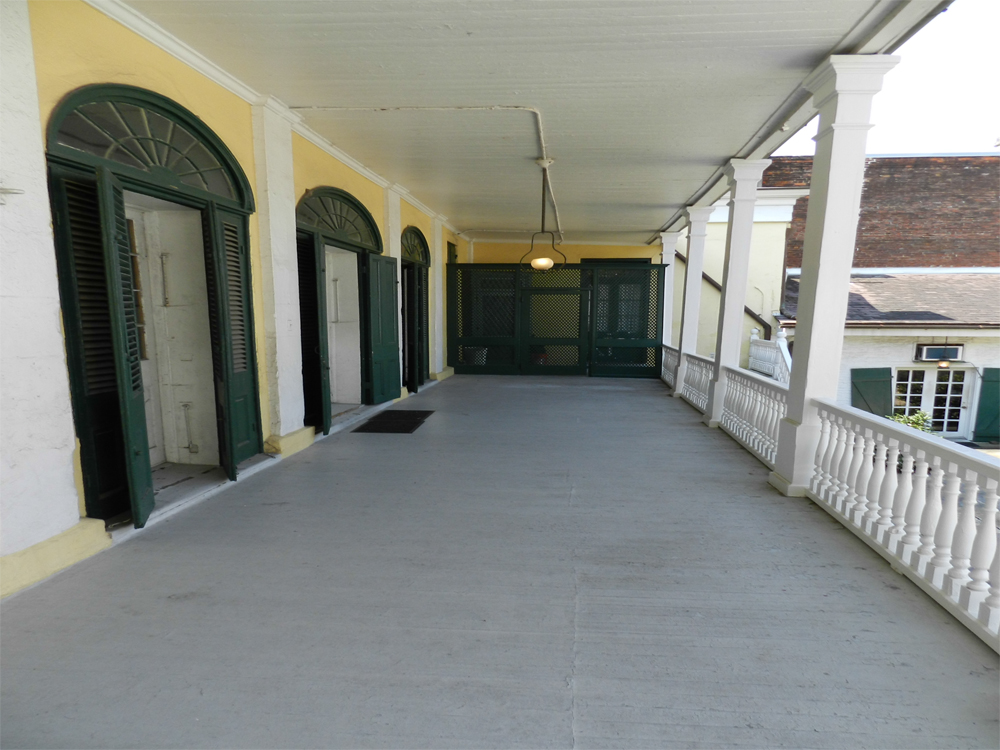 The porch where the shooting happened.