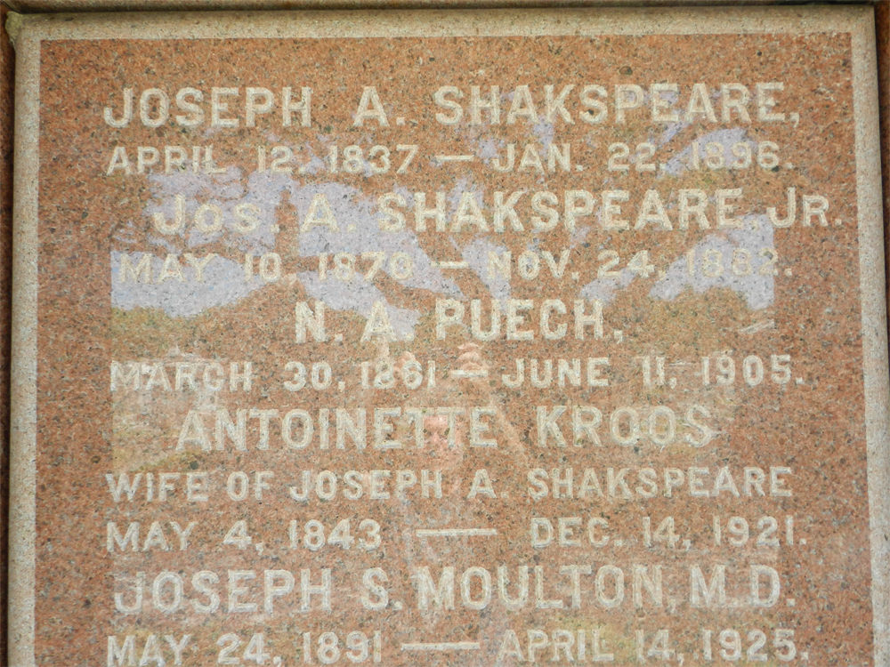 joseph shakespeare burial