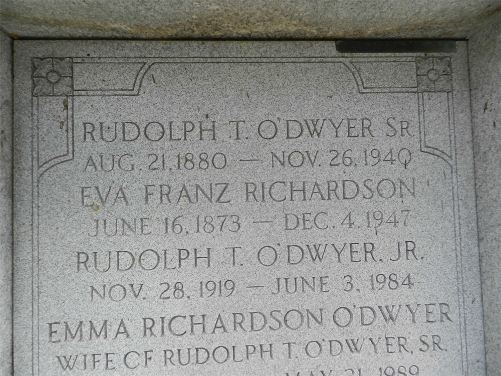 Rudolph O'Dwyer Burial