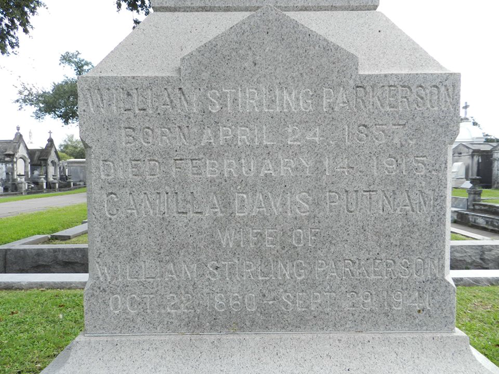 William Stirling Parkerson Burial