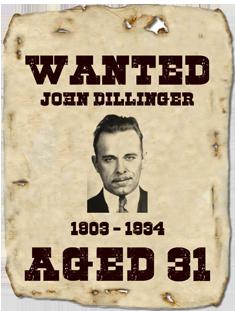 John Dillinger, Killed in Chicago, 22 July 1934