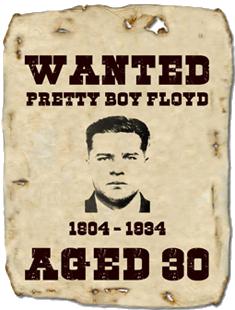 Pretty Boy Floyd, Killed in Ohio, 22 October 1934