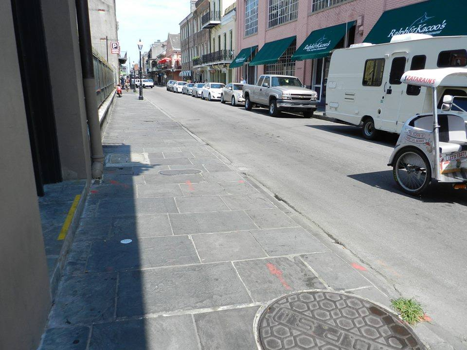 Section of Toulouse where Agnello was gunned down looking away from Decauter St. (Old Levee).