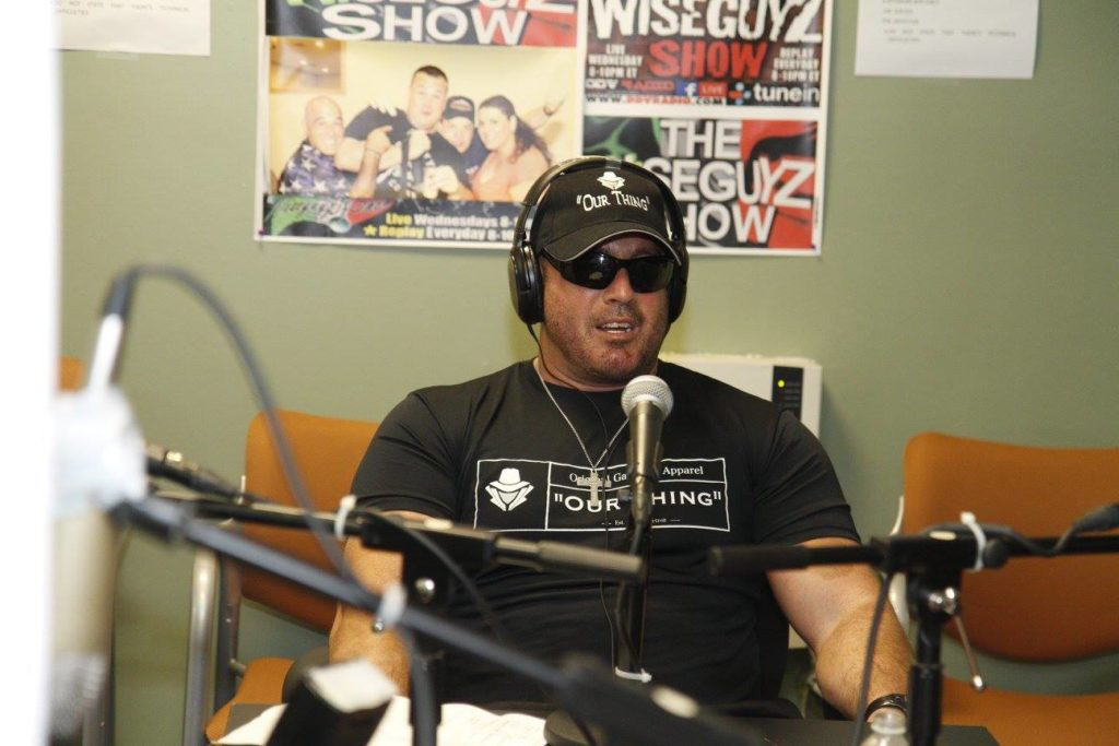 Alan talking to Wiseguyz Radio