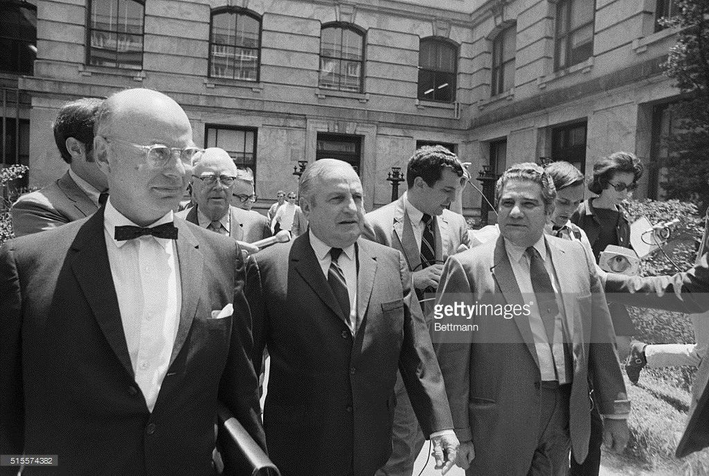 leaving court in 1971 Pascal Marcello to right of Carlos