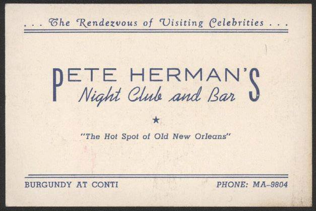Pete Herman Business Card