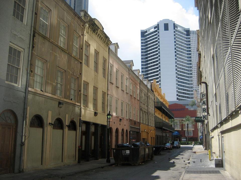 Exchange Alley section where Oswald lived as seen today