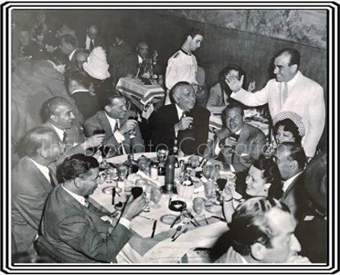 Lansky and Costello at Diamond Jim's La Louisiane Restaurant