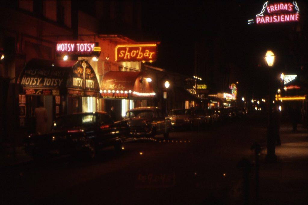 Night shot of Sho Bar