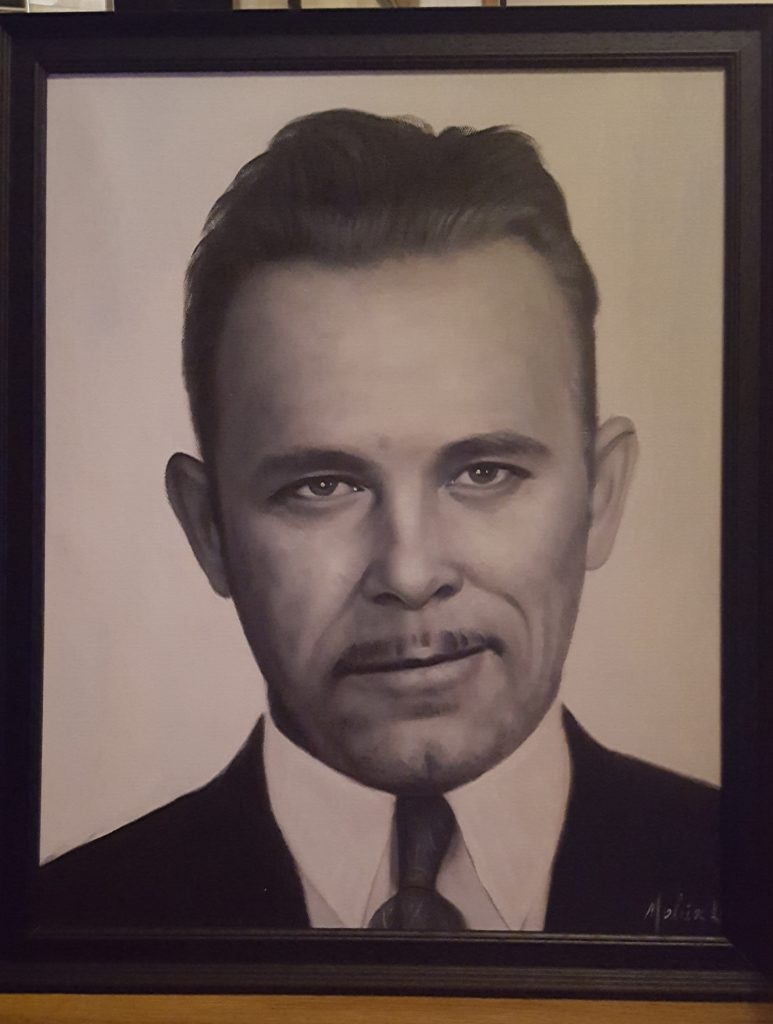 John Dillinger Oil Painting