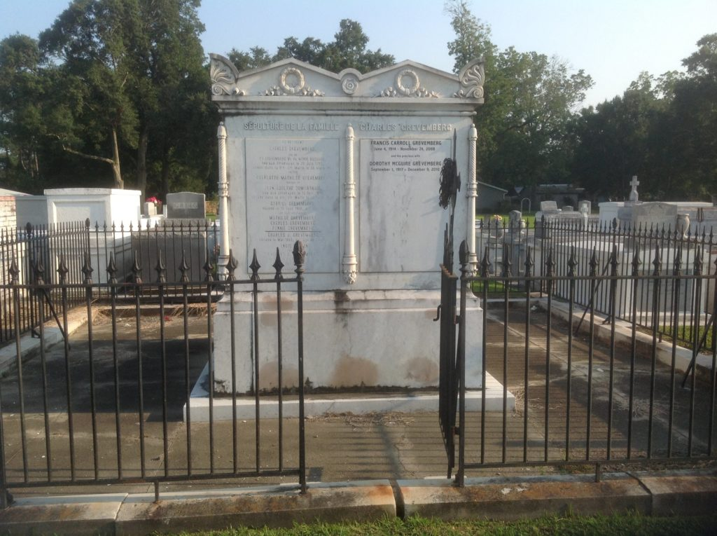 Family tomb in St. Martinville Louisiana