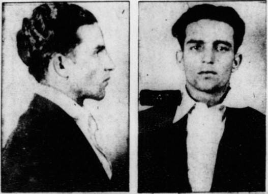Carlos Marcello mugshot from 1930 grocery store robbery.