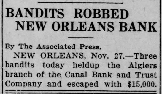 Bandits Robbed Bank