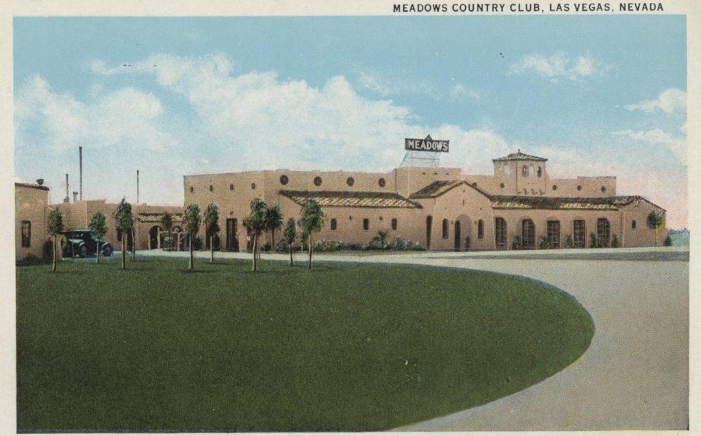 The Cornero-Stralla brothers' 'Meadows' hotel-casino, Las Vegas outskirts, 1931.