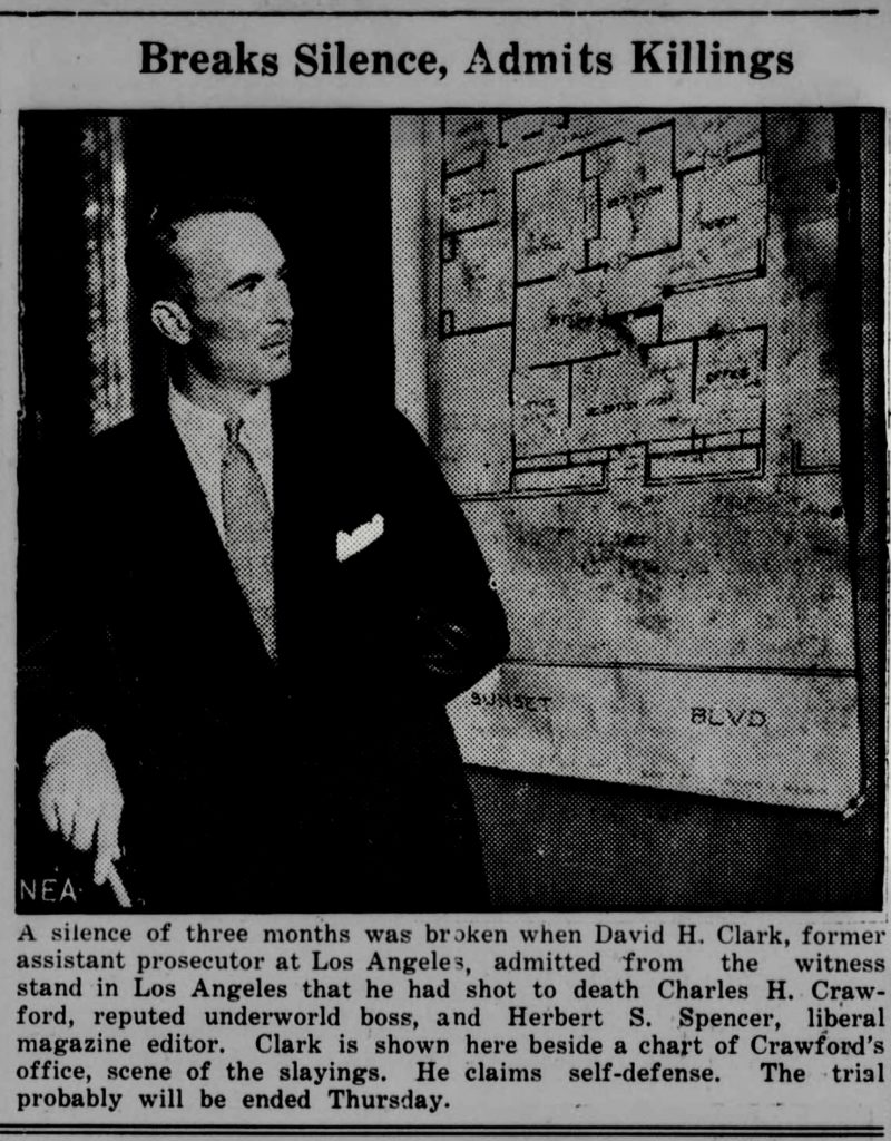 Dave Clark looking at a map of Crawford's office
