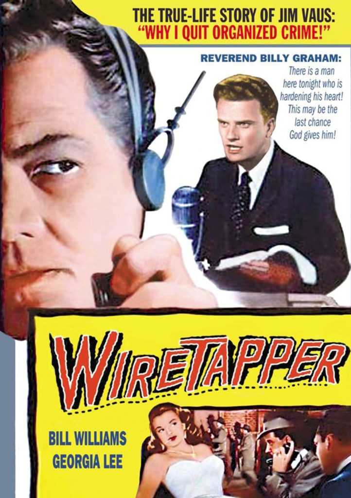 Movie poster for the 1955 film, Wire Tapper