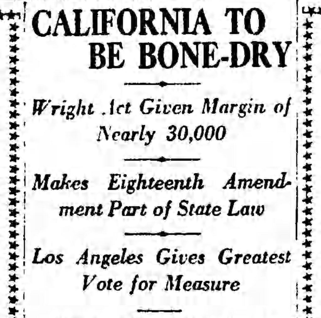 California Bone Dry