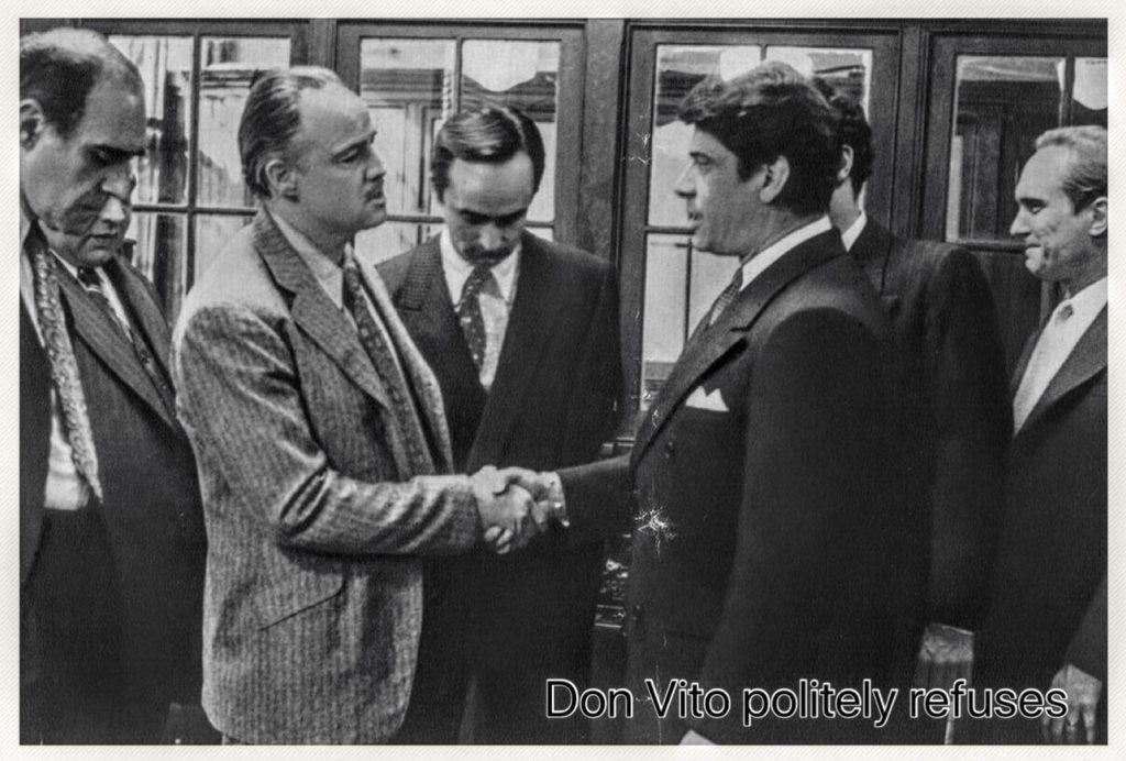 Vito Corleone in The Godfather