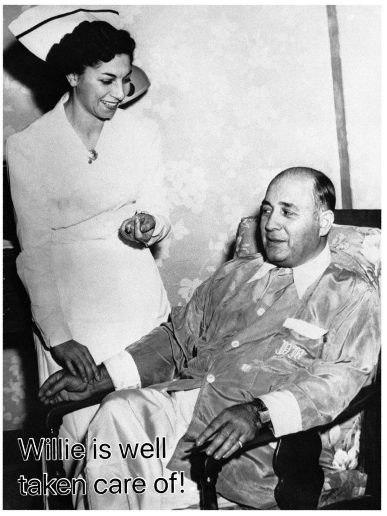 Willie Moretti and a Nurse