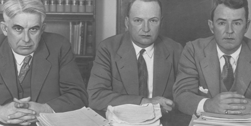 LA District Attorney Asa Keyes (center), 1923