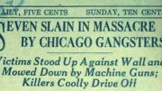 90th Anniversary of the St Valentine's Day Massacre