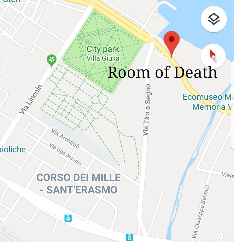 The location of Pino Greco death