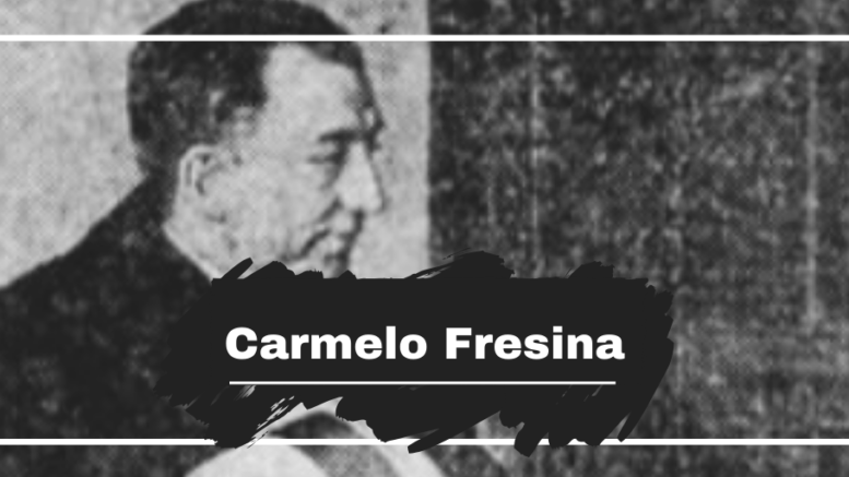 On This Day in 1931 Carmelo Fresina was Killed, Aged 38