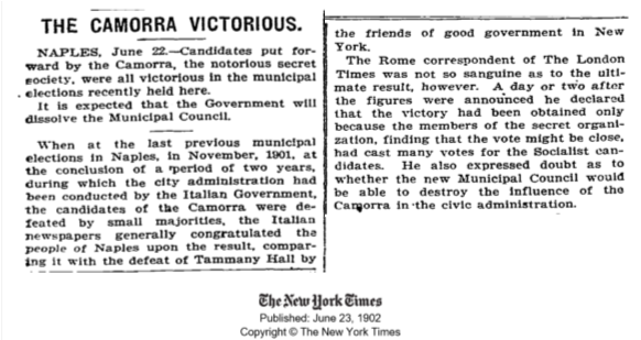 The Camorra victorious