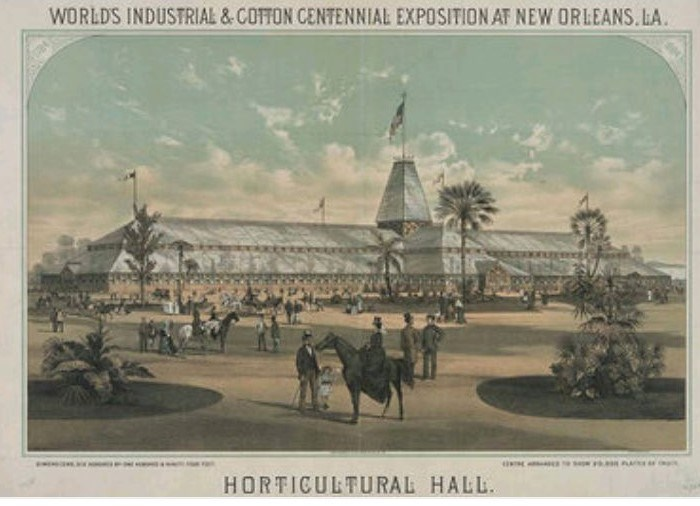 Postcard from the 1884 Worlds Fair in New Orleans where Hennessey was head of security