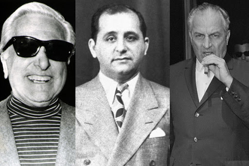 Johnny Roselli, Sam Giancana and Carlos Marcello