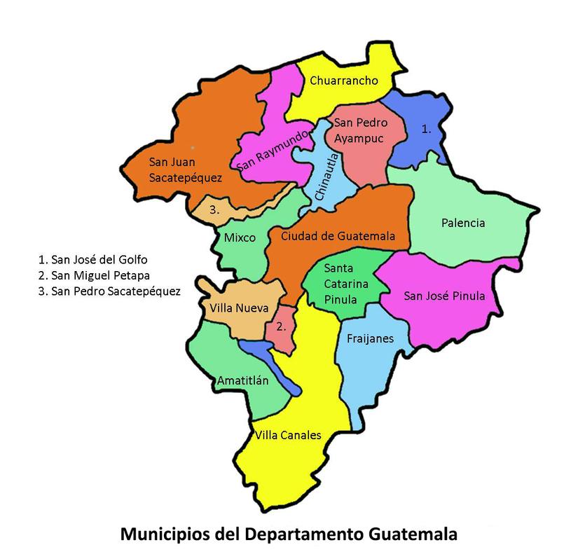 Map of Guatemala and provinces, shots of San Jose Pinula where Carlos was born