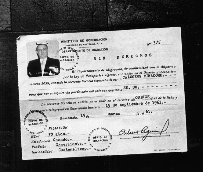 Marcellos Guatemalan passport and birth certificates